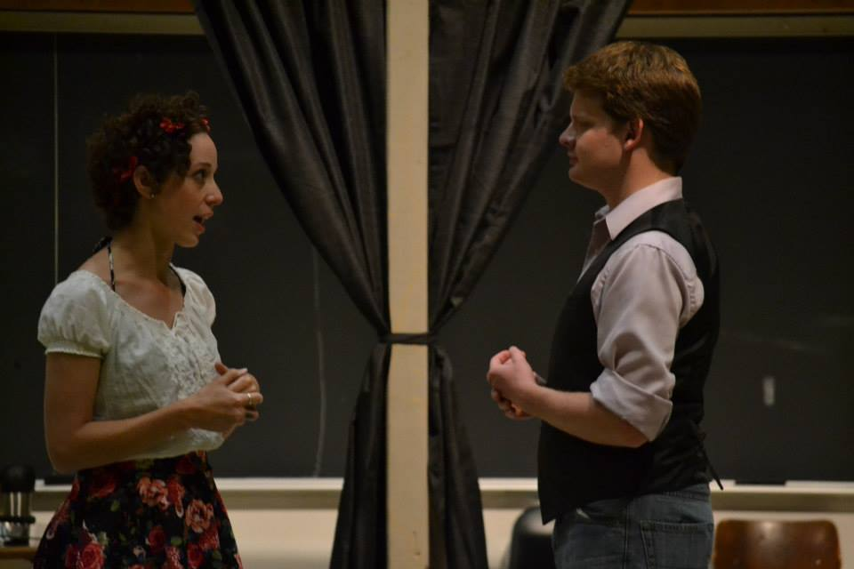 Juliet played by Allison Good and Romeo played by Matthew J. Wheeler  in Romeo&Juliet.
