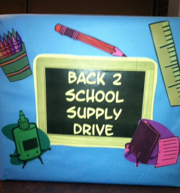Back+to+School+Supply+Drive+box+where+students+could+leave+donations.