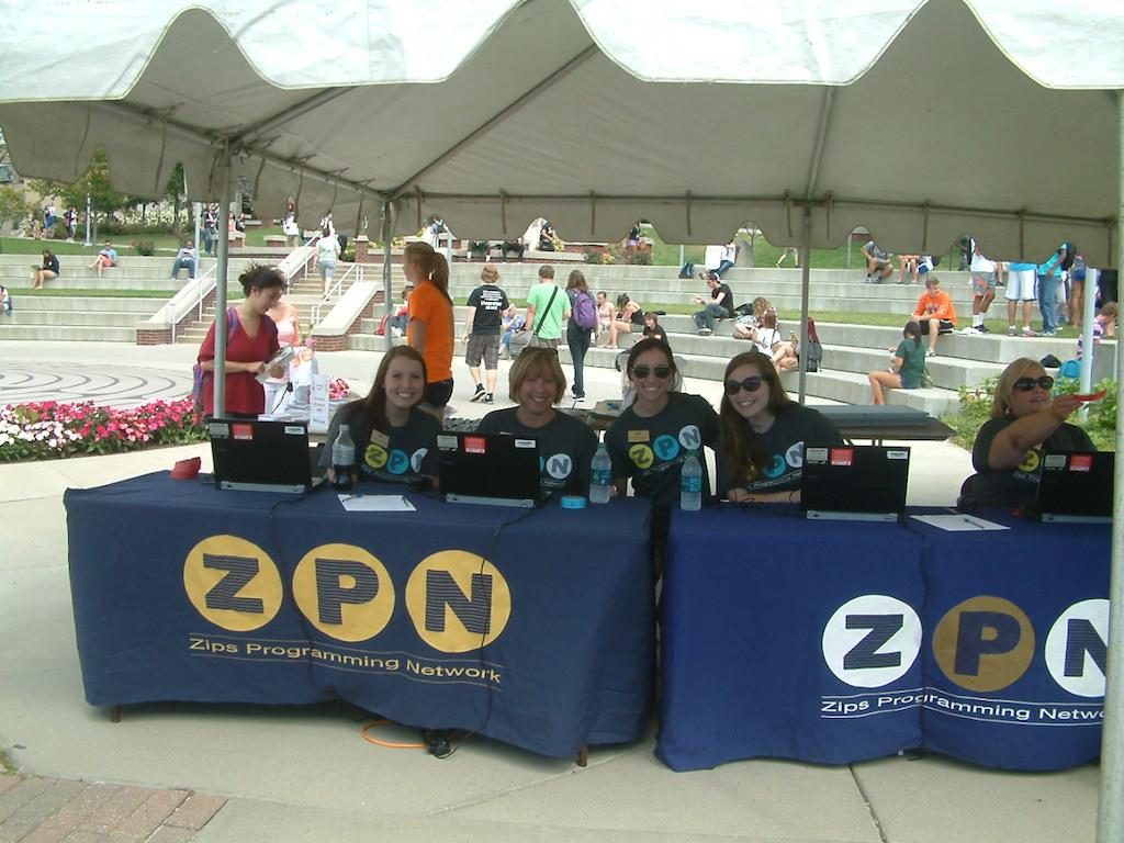 ZPN as they check students into the event