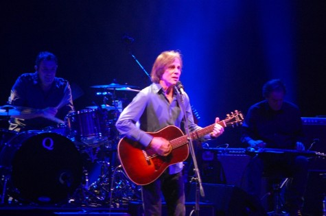 Jackson Browne on stage at E.J. Thomas Hall