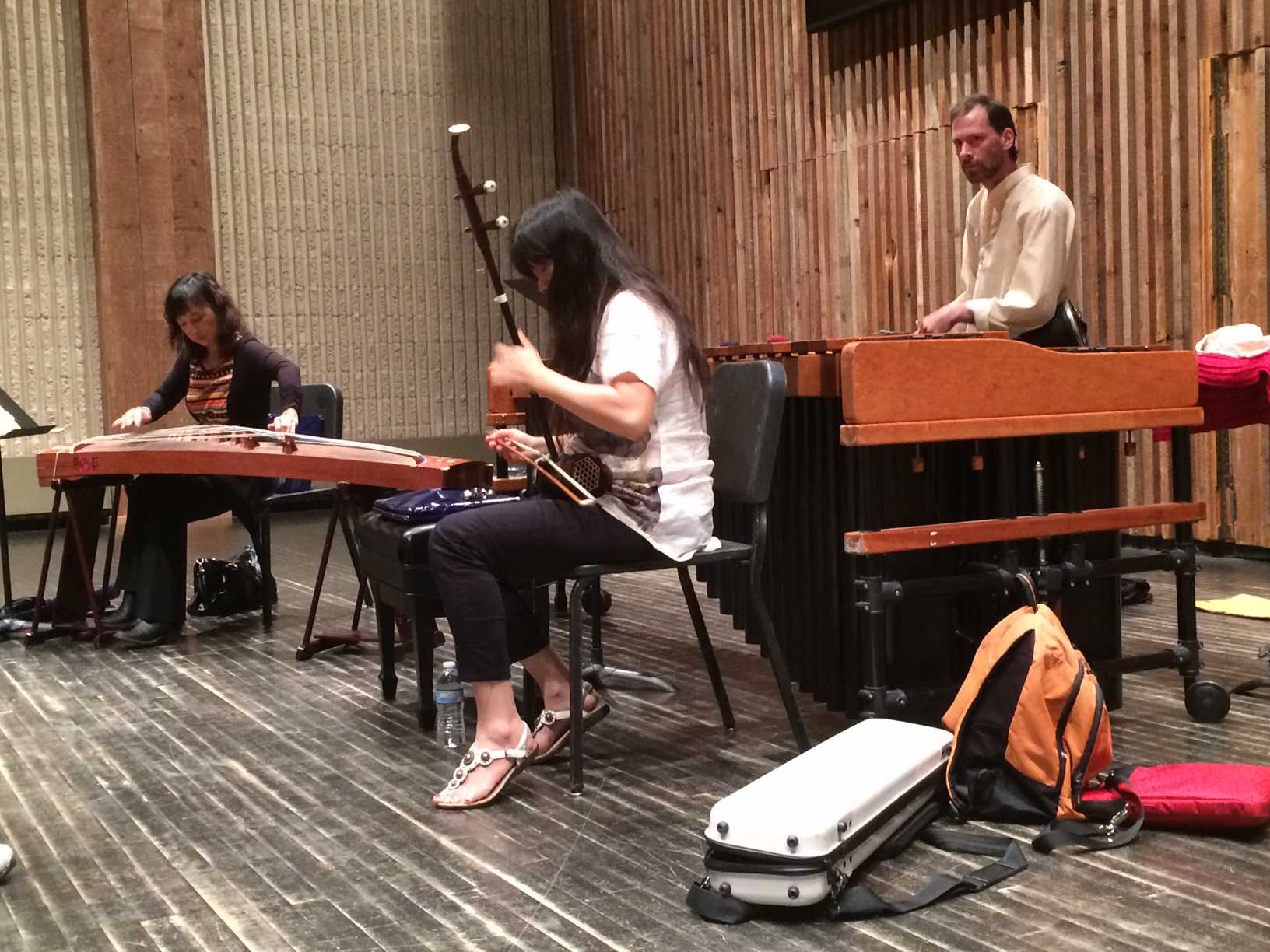 Members of the Orchid Ensemble play an original for the students and faculty attending the workshop