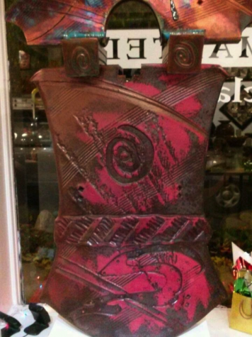 A ceramic piece at a gallery in downtown Akron
