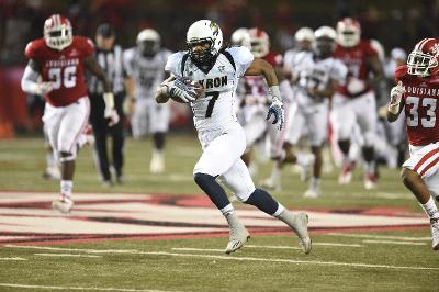 Woodson leads Zips offense past Cajuns