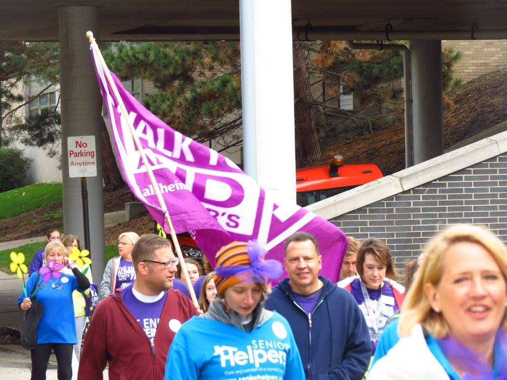 Participants in the Alzheimer's  walk support cause.