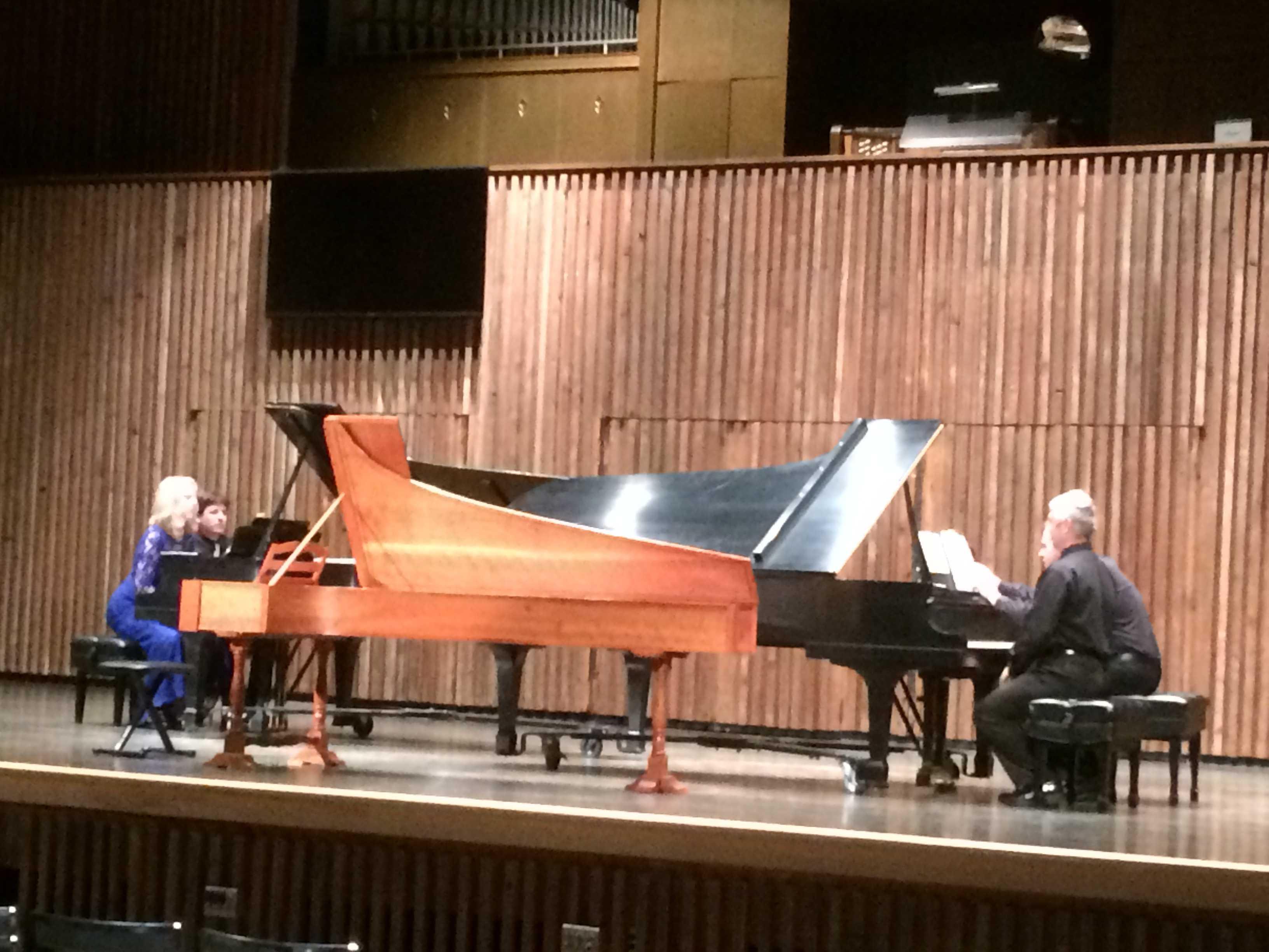 Oltmanns, Wilding, Reinhuber and Metchkov perform together at the UA/YSU Keyboard Festival.