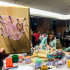 Students make the state of Ohio out of string for ZPN's art series.