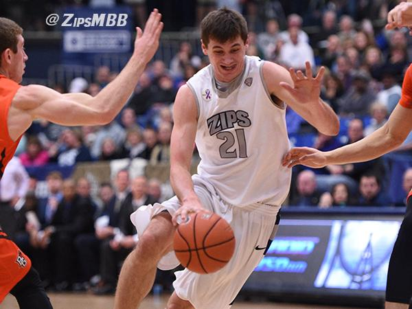 Reggie McAdams led the Zips with 29 points against Bowling Green on Friday evening.