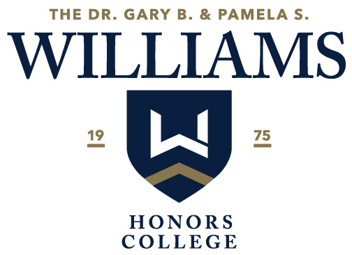The Honors College's new name and emblem.