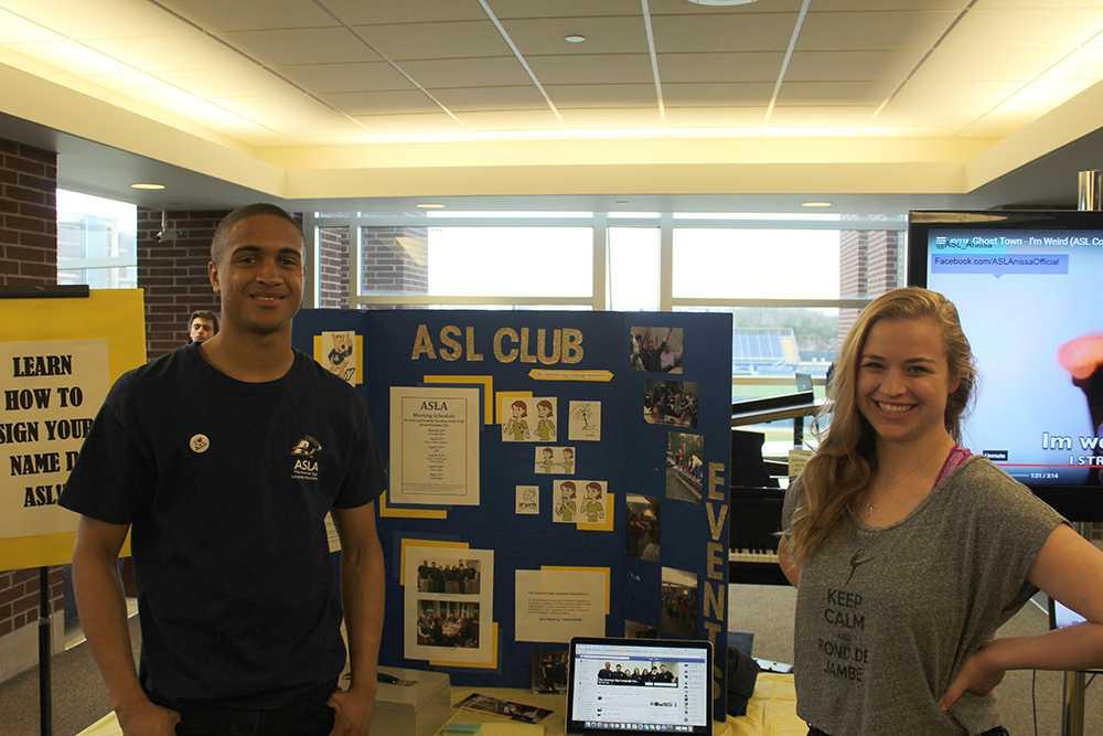 Senior Officers for the ASLA Club, Khalil Smoth and Margaret Katter.