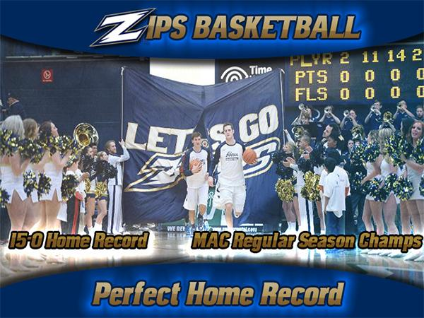 The Zips ended their regular season with a perfect 15-0 home record on Friday night.