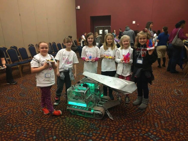Kids show off their creations at the 2016 Kid's Career Day at UA.
