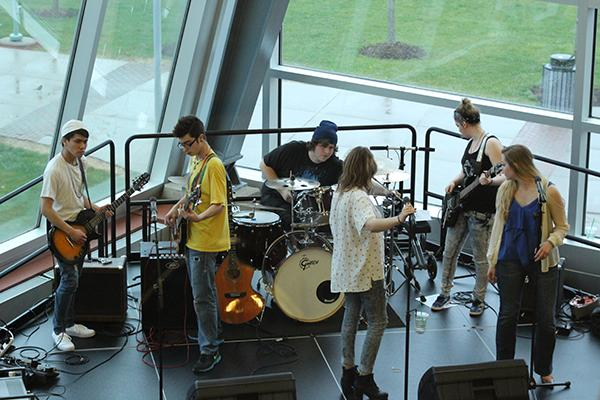 Earth Day's featured band, Scenic Route, from Canton, Ohio.