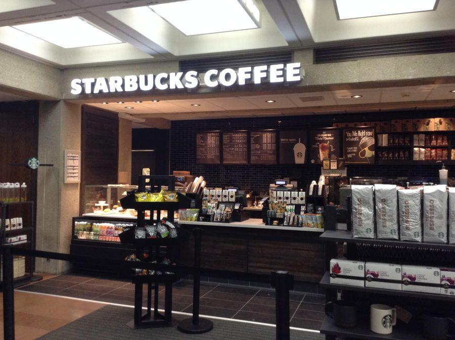 A+new+Starbucks+is+located+in+Bierce+Library.