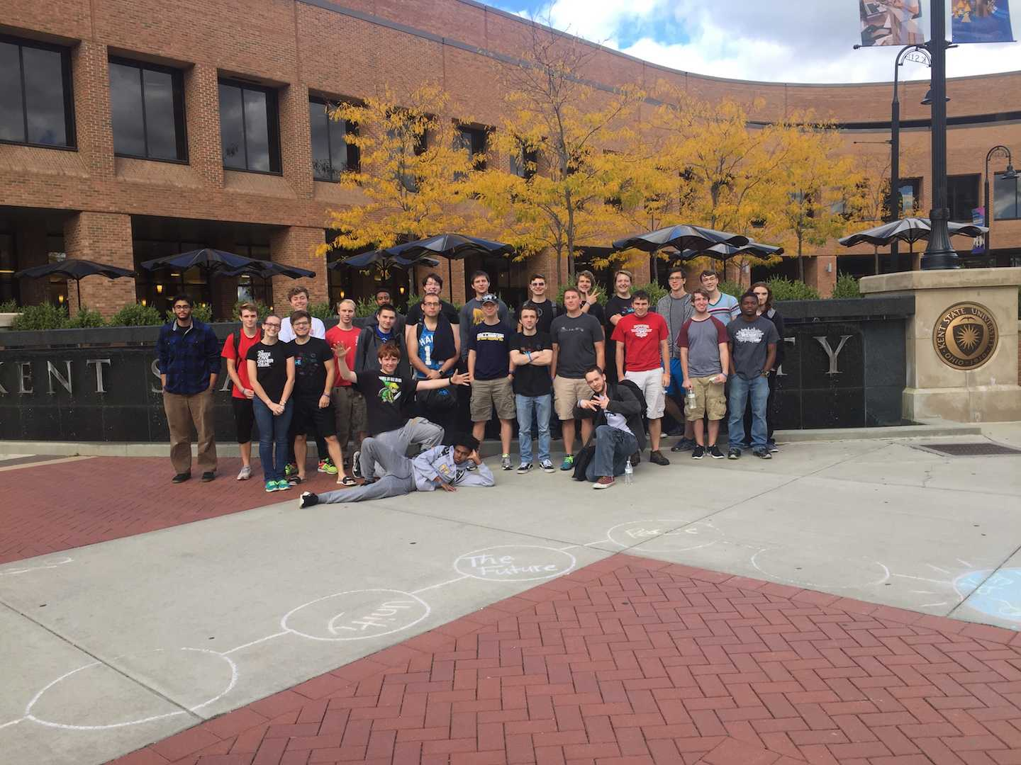 HAkron members pose for a picture at the recent Kent State hackathon.