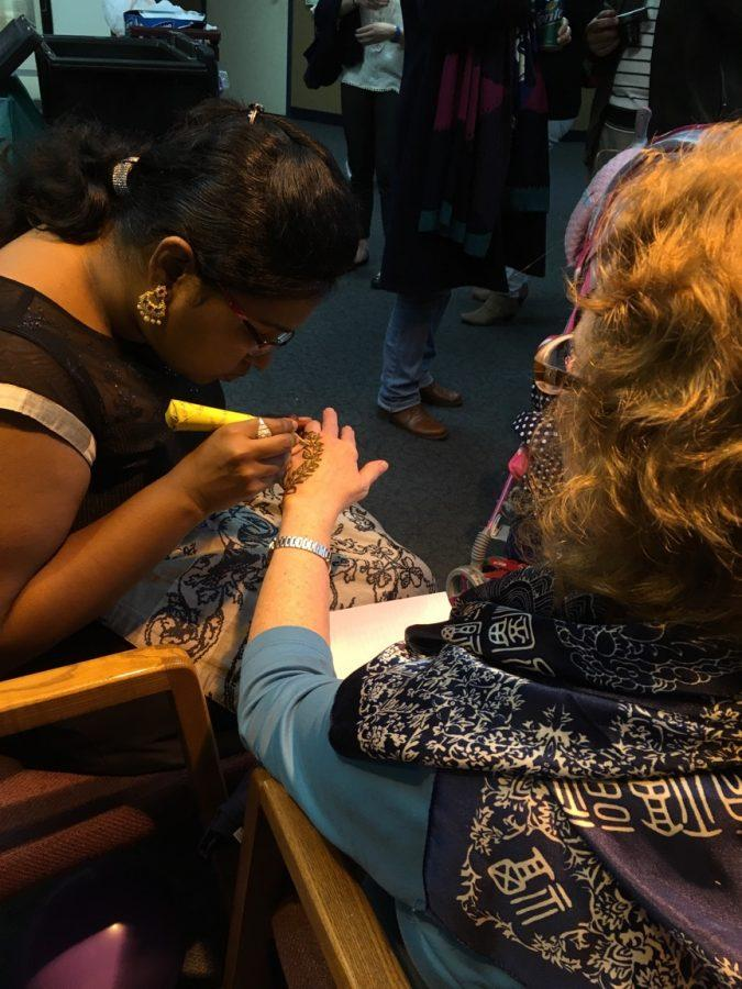 Henna tattoos were also available at yesterday's event.