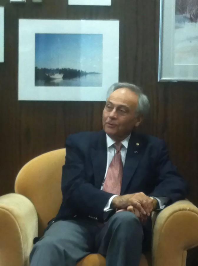 Buchtelite Managing Editor Zaina Salem interviews outgoing President Luis Proenza.