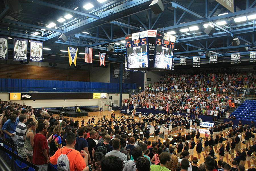 Incoming freshmen gather for New Student Convocation.