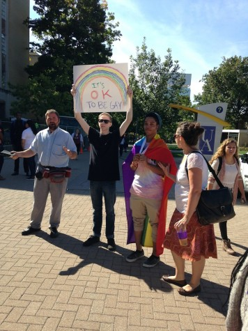 Religious protestors cause stir on campus