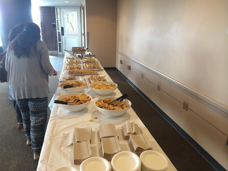 Cuban sandwiches and fried plantains were available to students during Caribbean Day