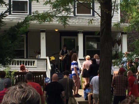 One of the many porches that hosted bands throughout the event