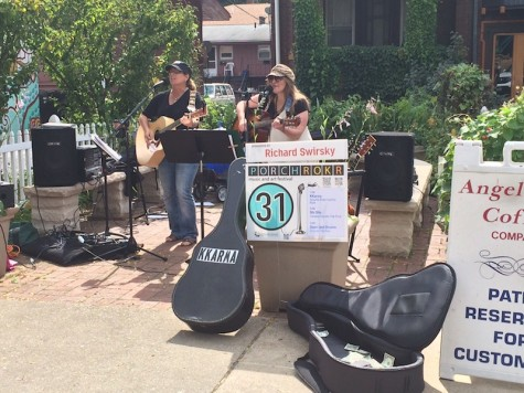 A small band performed multiple Janis Joplin song during the festival