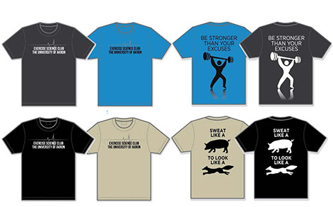 Designs of the t-shirts being sold in the fundraiser.