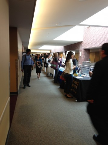 The Student Union was bustled with activity during the career fair.