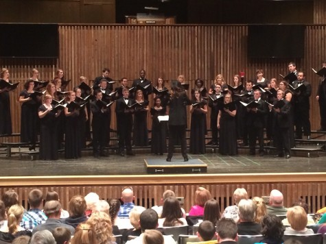 UA Concert Choir performing at Guzzetta Recital Hall