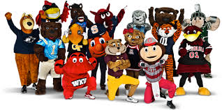 The mascots of the 2014 Capital One Mascot Challenge.
