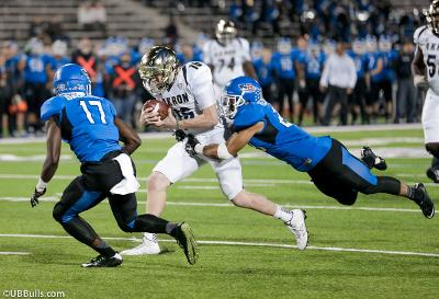 No. !6 Kyle Pohl running with the ball against UB.