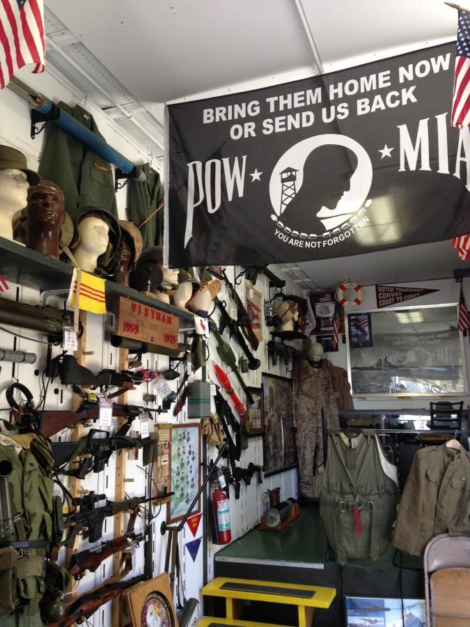 The Living Museum features historical military equipment.