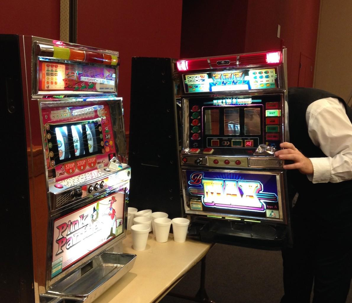 Slot machines were one of the many things available at the event.