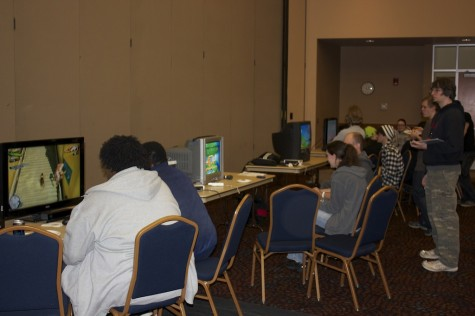 Students played on numerous different consoles on a variety of games