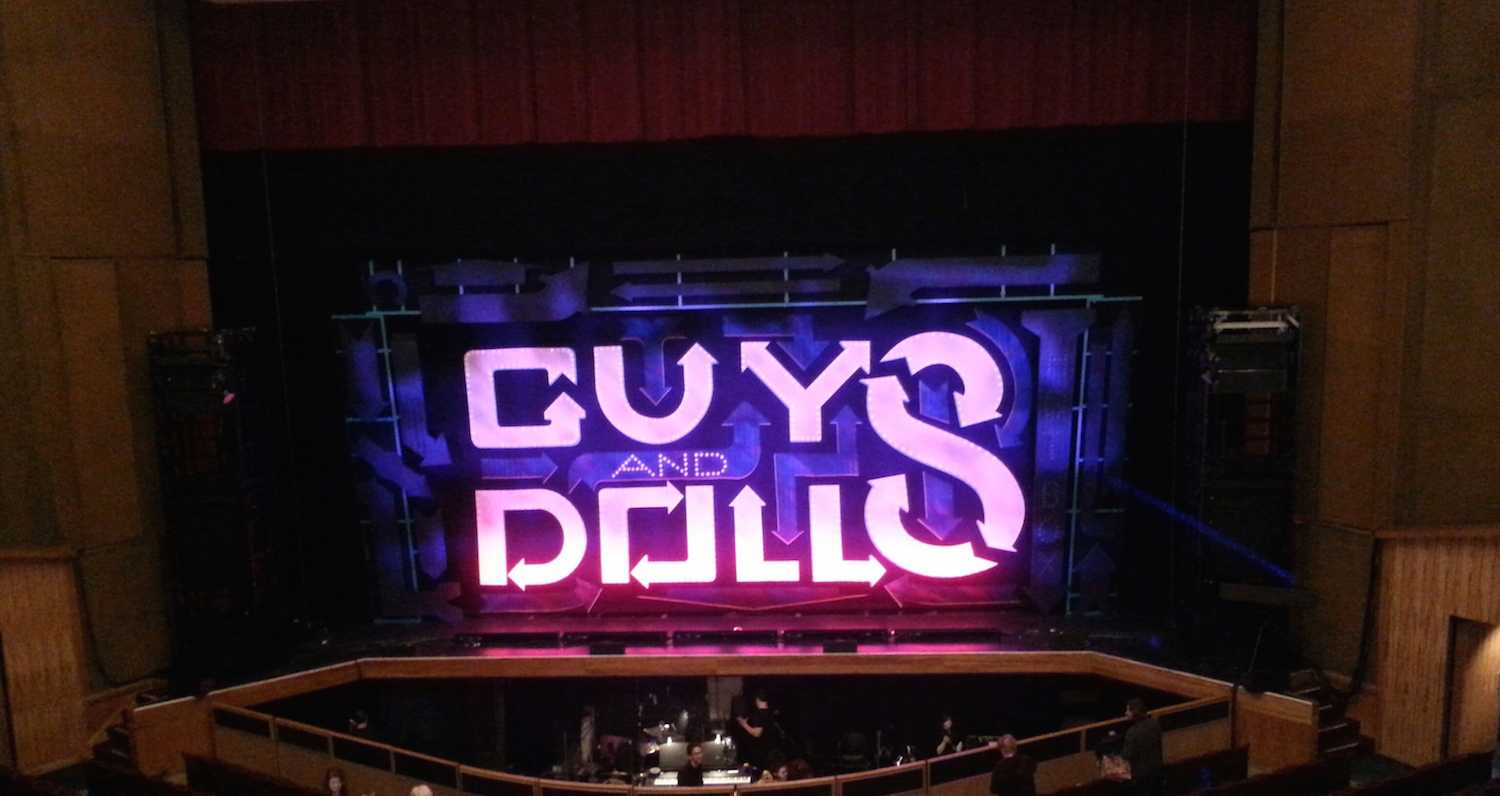 The traveling performance of Guys and Dolls make a stop in Akron to give the tony awarding musical on stage.
