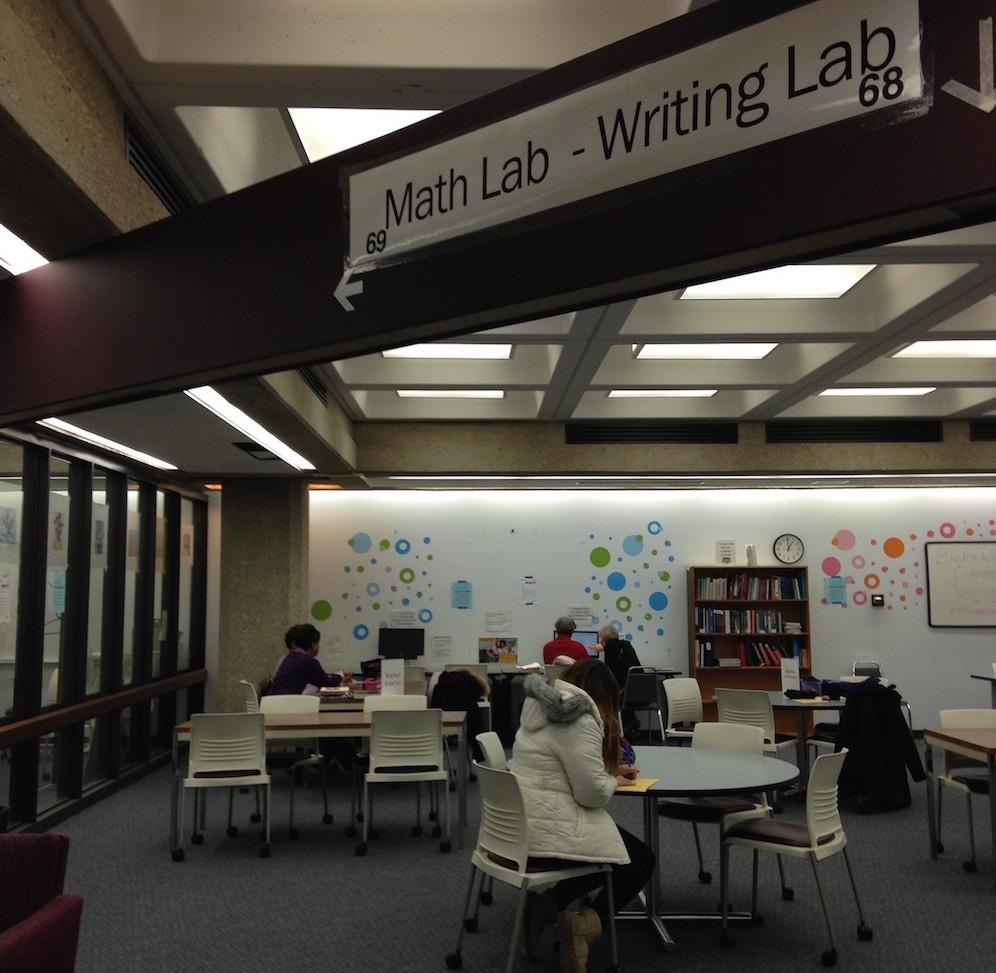 Writing and Math Lab open to students on ground floor of Bierce Library and in Polsky Building.
