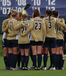 The Zips women's soccer team.