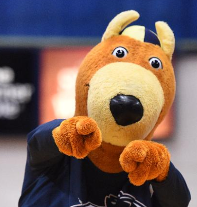 Zippy wants you at the game this Saturday, Feb. 14, when the Zips take on UT.