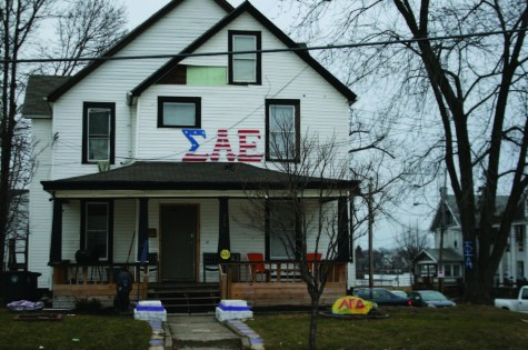 UA's chapter of SAE is located on the corner of Vine St. and Spicer St.