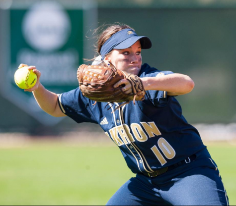 Chelsea Wildey pitching the ball during a weekend of action.