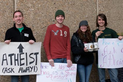 Secular Student Alliance members (from left to right): Jon Tucker, Michael Nabors, Shauna Lachendro, and Jason Wenneman.