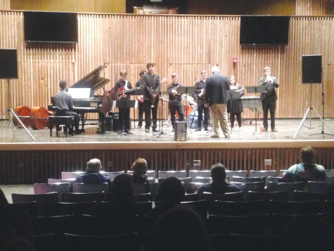 UA music students perform end-of-semester jazz pieces at Guzzetta Recital Hall.