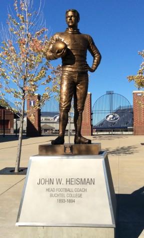 Heisman statue unveiled