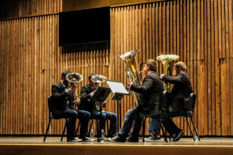 ATLAS Tuba and Euphonium Quartet performs at Guzzetta