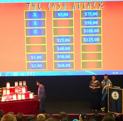 Students played game similar to 'Deal or No Deal' in attempts to win gift cards.