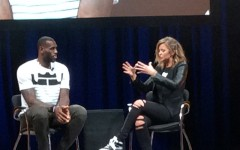 In his conversation with Kristen Ledlow, LeBron revealed each shoe will have the word 'Akronite' printed on it.