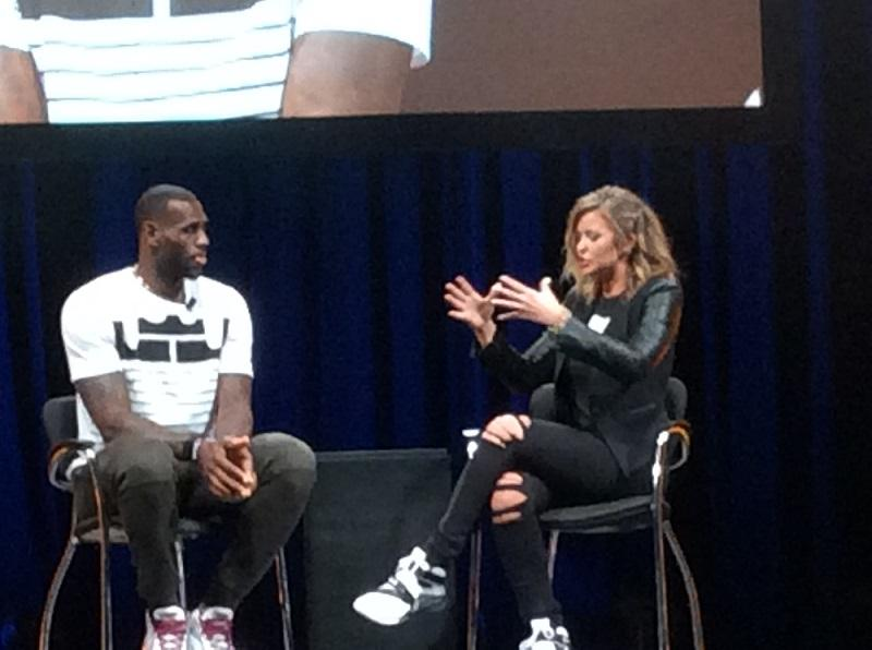 In his conversation with Kristen Ledlow, LeBron revealed each shoe will have the word Akronite printed on it.