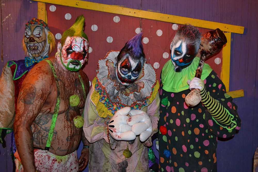 Carnival of Horrors cast members prepare to scare.