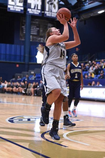 Greta Burry had career highs in points and rebounds, but it was not enough against Florida Atlantic.