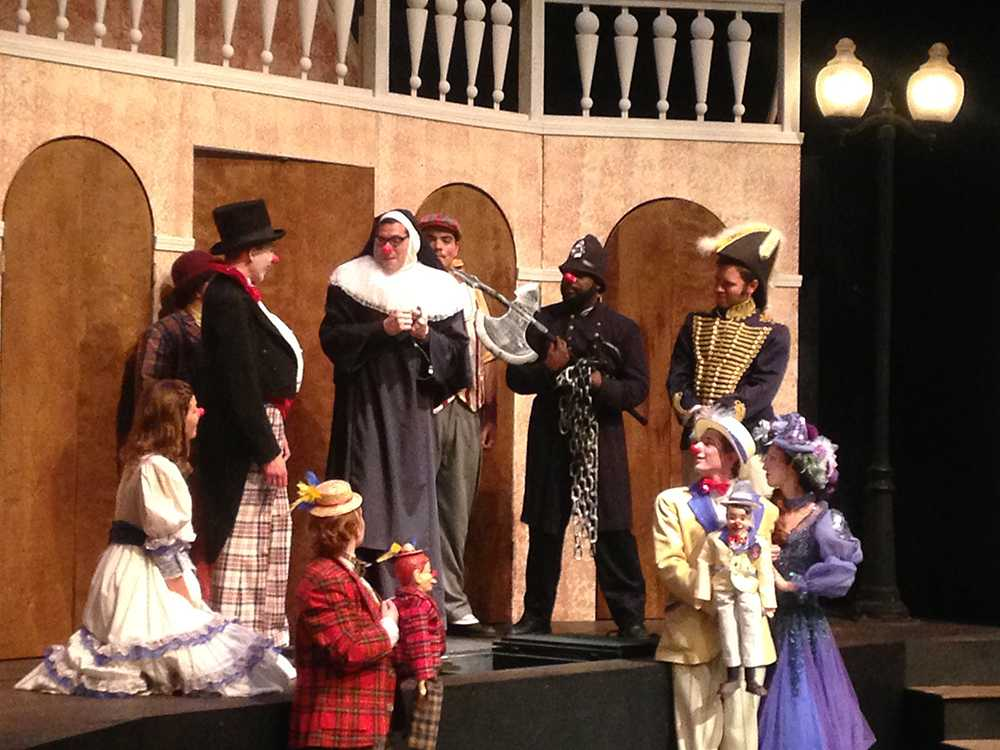 The cast of 'The Comedy of Errors' performs at UA's Sandefur Theatre on Thursday evening.