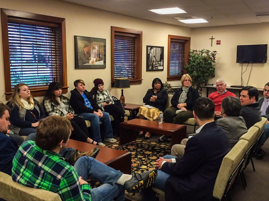 UA students visit Saint Anselm College in New Hampshire.